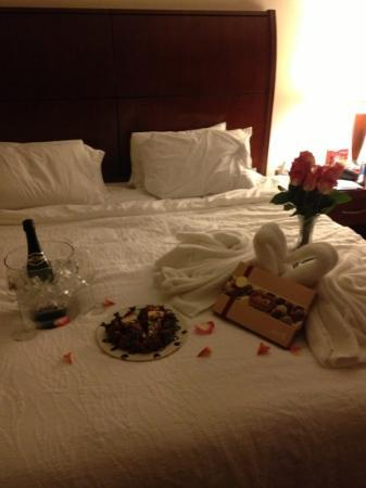 Hilton Garden Inn Panama City: what we came back to after dinner.