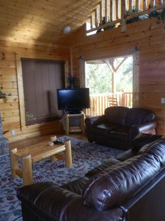 Gatlinburg Falls Resort: LIving Room