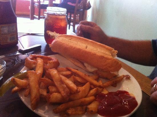 The Mason Jar Restaurant: Fish Sandwich and Fries
