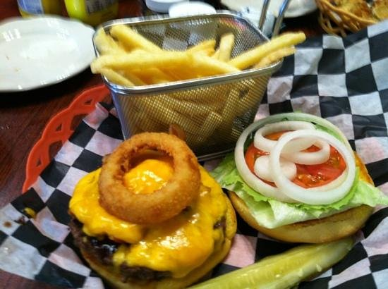 Firefly Cafe: Elkmont burger and fries