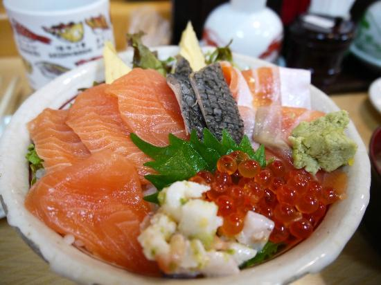 The Tsukiji Market: Chirashi sushi set