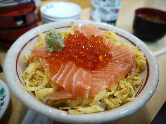 The Tsukiji Market: Salmon don