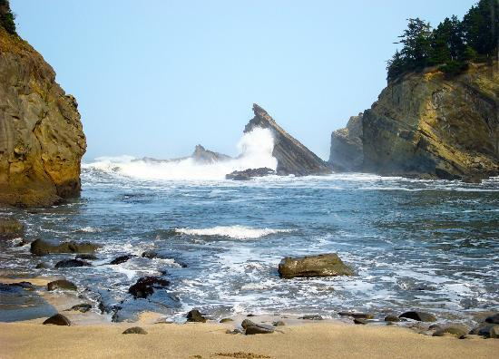 Coos Bay, Oregón: Shore Acres State Park, Simpson Beach