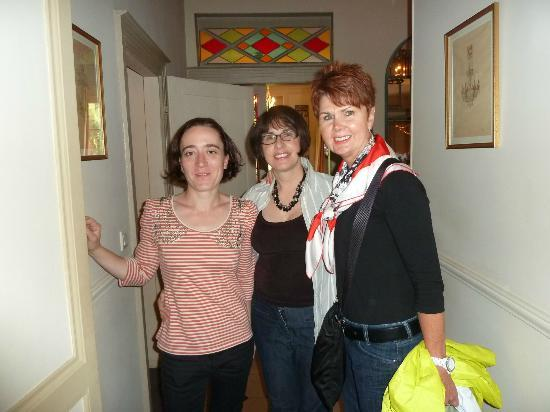 La Petite Folie owner(middle) and assistant(left) plus myself (guest)