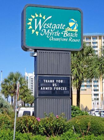 Westgate Myrtle Beach Oceanfront Resort : Sign