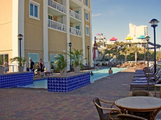 pool area picture of westgate myrtle beach oceanfront. Black Bedroom Furniture Sets. Home Design Ideas