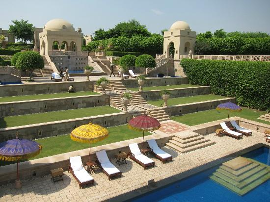 The Oberoi Amarvilas: view of pool terraces