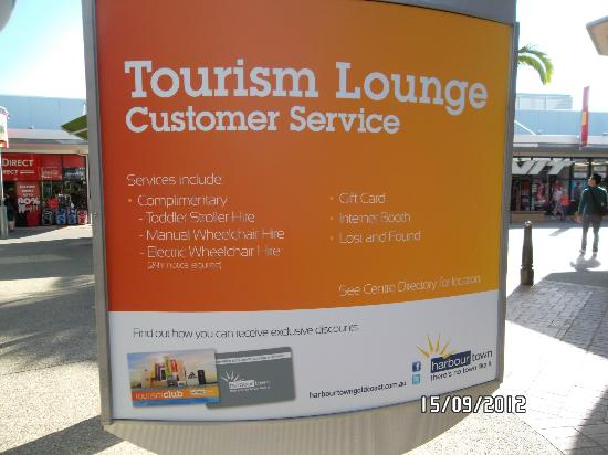 Harbour Town Outlet Shopping Centre: Tourism Lounge at Harbour Town
