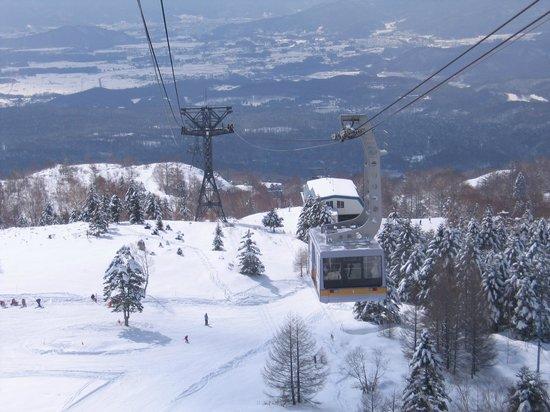 Pilatus Tateshina Ski Resort: ロープーウエイからの眺め