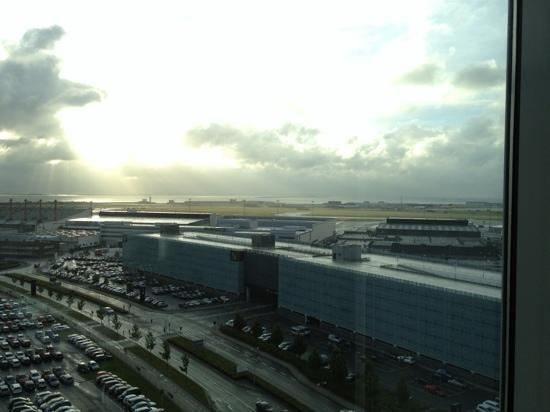 Clarion Hotel Copenhagen Airport: view out of the exec lounge window on the 12th floor.