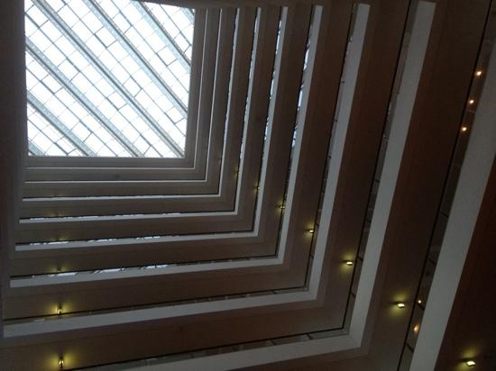 Hilton Copenhagen Airport: a view looking up through centre of the hotel.