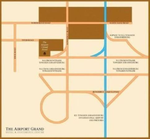The Airport Grand: Map
