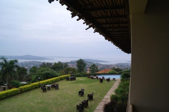 Cassia Lodge: uitzicht over Lake Victoria vanuit kamer 13