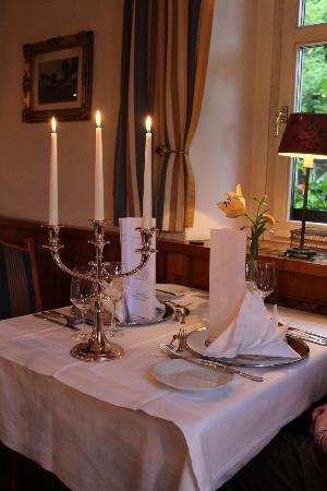 Romantik Hotel Schwanefeld: Unser Candle light Dinner Tisch