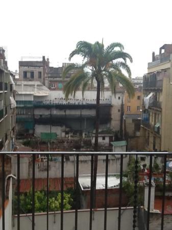 La Rambla dels Caputxins: view from our room at the rear