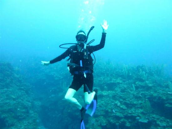 Bacalar Chico National Park and Marine Reserve: Me - diving Bacalar