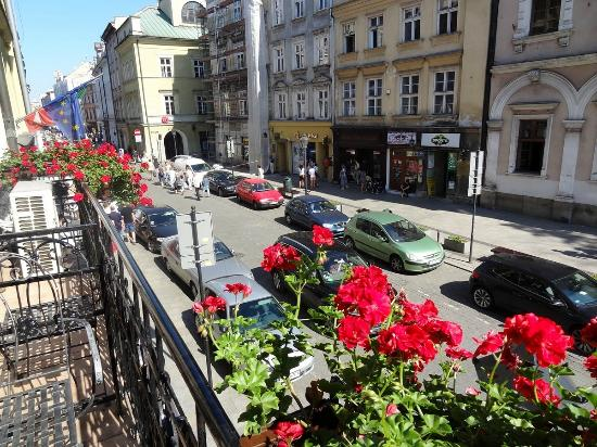 Senacki Hotel: View from balcony towards market square