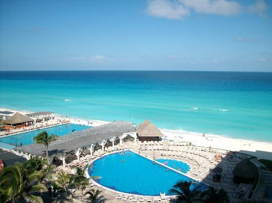 Crown Paradise Club Cancun: the view from our balcony