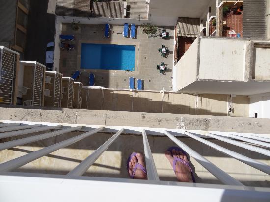 Hotel Gracia: Blick vom Balkon