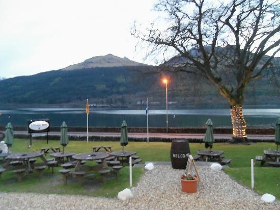 The Village Inn: The view of Loch Long from the front door