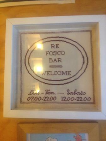 Re Fosco Bar: welcome..