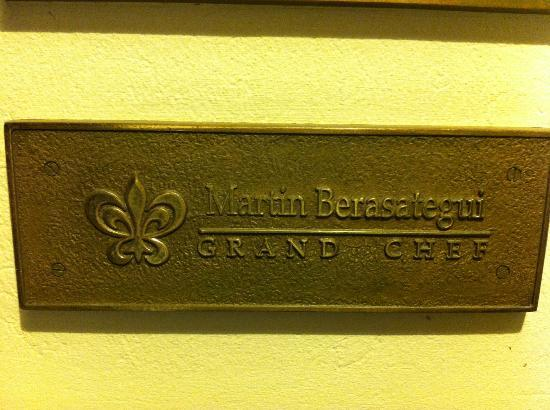 Martin Berasategui: ingresso