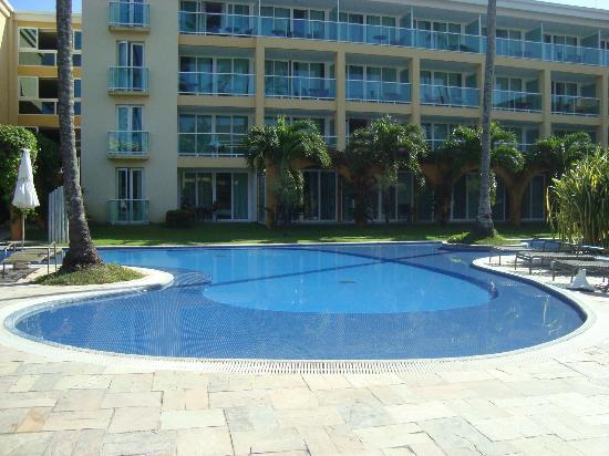 Enotel Acqua Club - Porto de Galinhas: Área de piscinas mais tranquilas, perto do prédio principal do hotel, onde fica situada a recepç