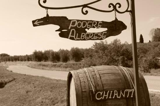 Podere Alberese: sign