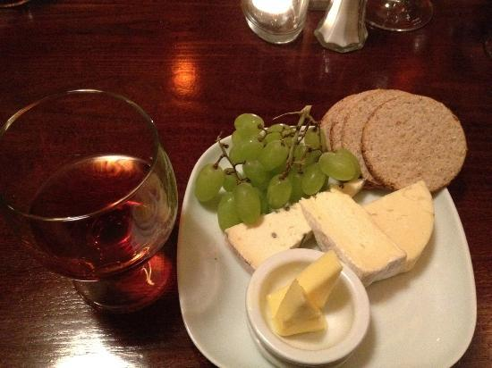 Coast Restaurant: Scottish Cheese Selection and Port