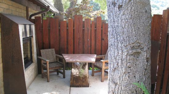 Glen Oaks Big Sur: Our private patio #9