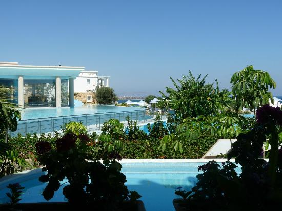 Atrium Prestige Thalasso Spa Resort and Villas: View from poolside restaurant