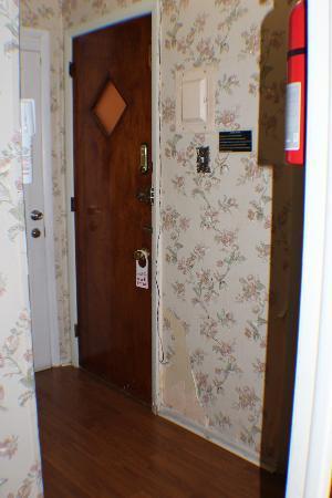 Midwood Suites: more peeling wall paper