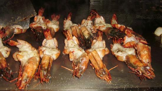 Maxx Royal Belek Golf Resort: huge prawns in Teppanyaki restaurant