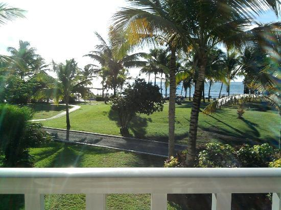 Coconut Bay Beach Resort & Spa: View of grounds and beach from harmony wing room, 2nd floor