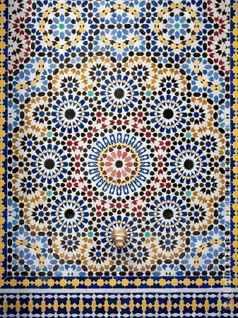 Riad Kniza: Fountain detail