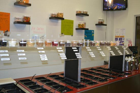 Island Yogurt Shoppe : Over 70 toppings to choose from including fresh fruit and hot fudge