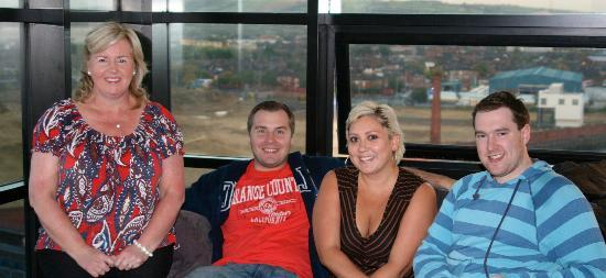 Hilton Belfast: Me, My son and daughter in law and a friend of ours in our suite