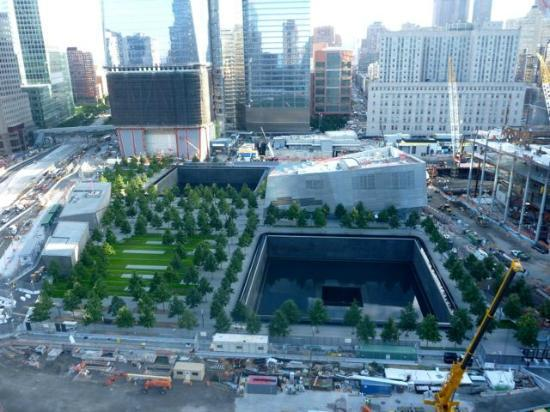 World Center Hotel: View of 911 Memorial site from the Terrace