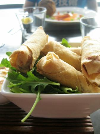 Restaurant 23: Duck spring rolls with coriander & chilli