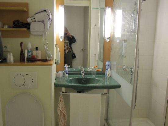 Ibis Quiberon Thalassa : Chambre-Salle de bains