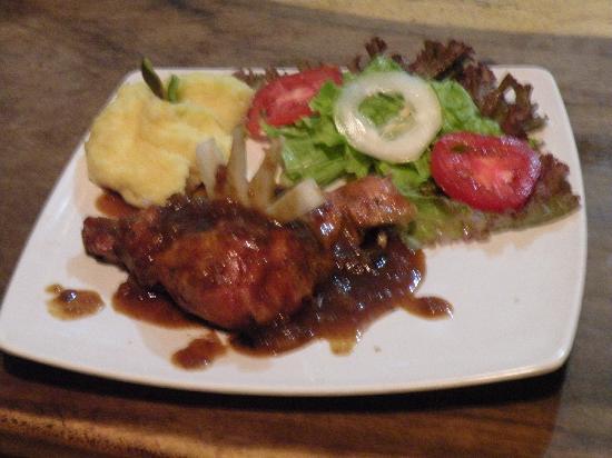 El Pollito Pescador : 1/4 Pollo con Salsa BBQ
