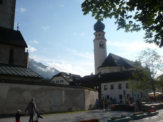 San Candido, Italie : Il campanile della chiesa di San Michele