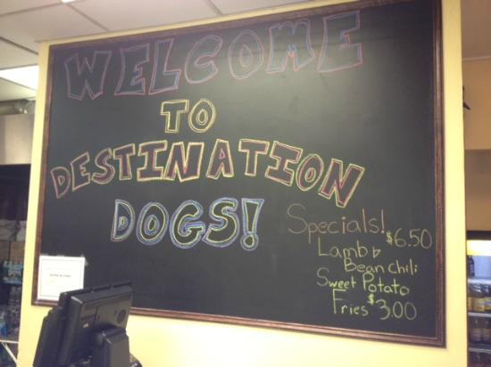 Destination Dogs: Don't worry about where to park - its next to a parking deck.