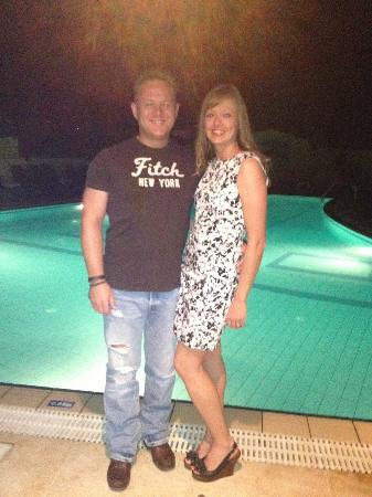 San Giorgio Apartments: Us by the nite pool