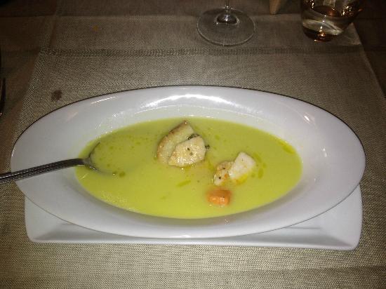 Osteria la Botte Vagliagli: seafood soup starter