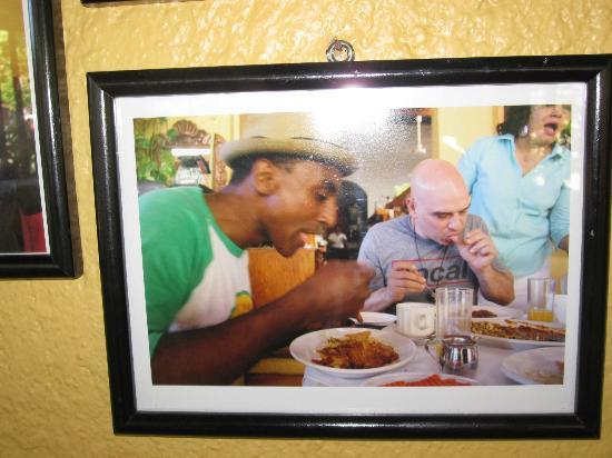 Carmelitas Cafe: Photo of Marcus Samuelson and Michael Symon eating at Carmelita's