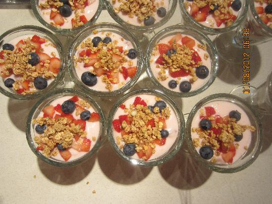 Cranford Inn: Breakfast parfaits  are a favourite at the Cranford