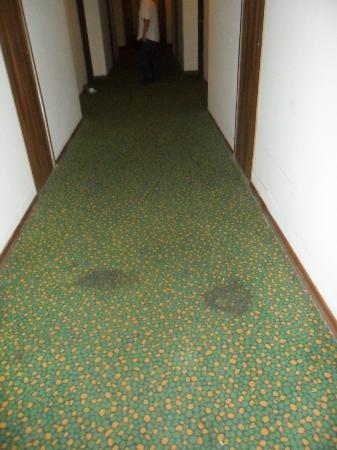 Luana Hotels Santa Maria: la moquette du couloir menant à la chambre