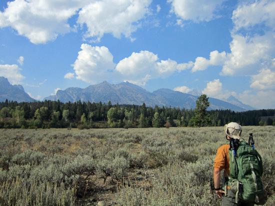 Laurance Rockefeller Preserve: Teton range from LSR Preserve