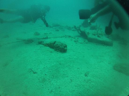 Benwood wreck: Old bomb from military practice.